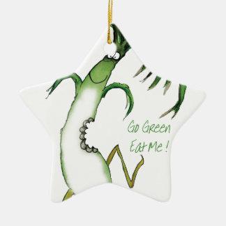 ¡Va el verde - cómame! , fernandes tony Adorno Navideño De Cerámica En Forma De Estrella