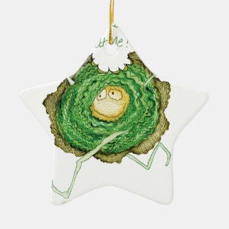 ¡Va el verde - cómame! , fernandes tony Adorno De Cerámica En Forma De Estrella