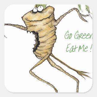 ¡Va el verde - cómame! , fernandes tony Pegatina Cuadrada