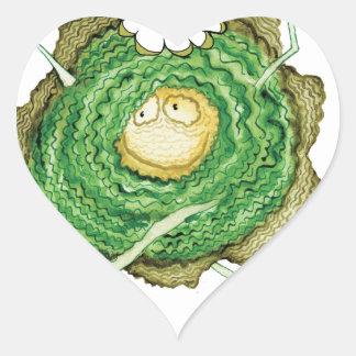 ¡Va el verde - cómame! , fernandes tony Pegatina En Forma De Corazón