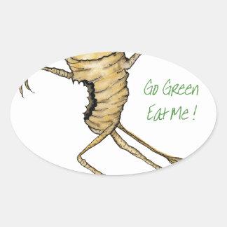 ¡Va el verde - cómame! , fernandes tony Pegatina Ovalada
