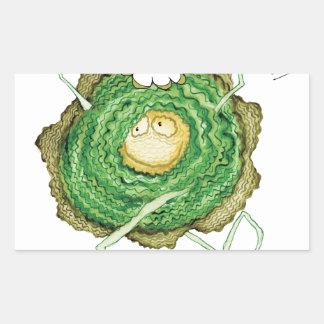 ¡Va el verde - cómame! , fernandes tony Pegatina Rectangular