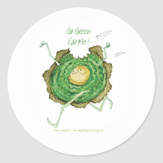 ¡Va el verde - cómame! , fernandes tony Pegatina Redonda