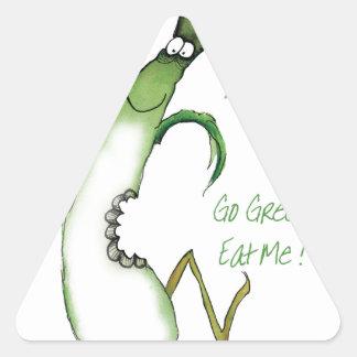 ¡Va el verde - cómame! , fernandes tony Pegatina Triangular