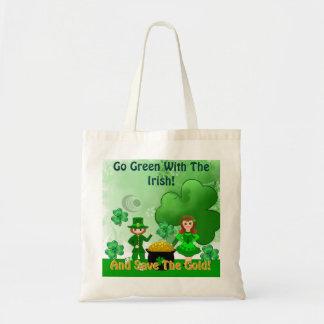 Va el verde con el irlandés. Bolso Bolsa Tela Barata