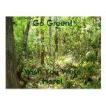 ¡Va el verde! ¡Deseo usted estaba aquí! Tarjetas Postales