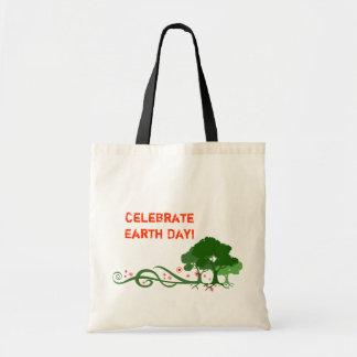 Va el verde/el Día de la Tierra Bolsas Lienzo