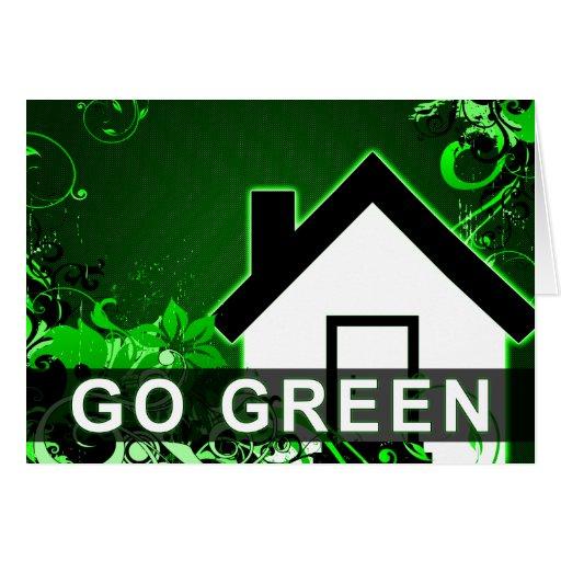 va el verde: hogar de alta fidelidad tarjeta de felicitación