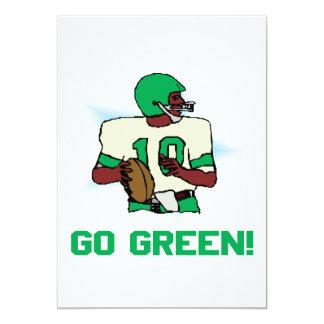 """Va el verde invitación 5"""" x 7"""""""