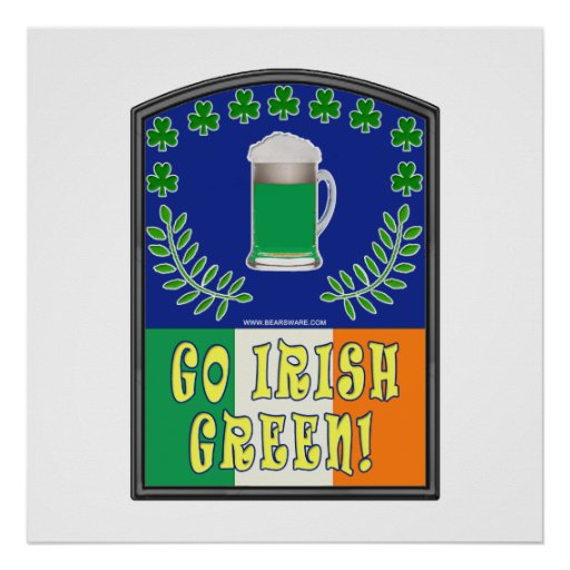 Va el verde irlandés póster
