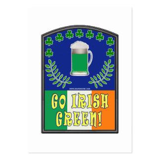 Va el verde irlandés tarjetas de visita grandes