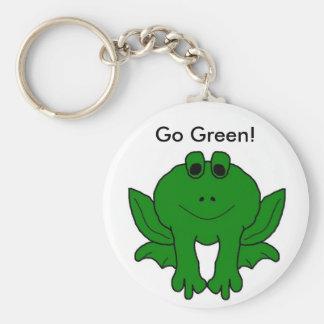 ¡Va el verde! Llavero Redondo Tipo Pin