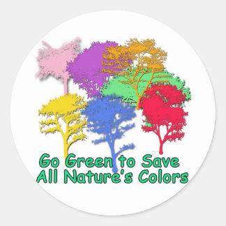 Va el verde para ahorrar los colores de toda la na pegatinas