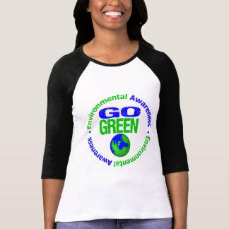 Va el verde para el ambiente v2 camisetas
