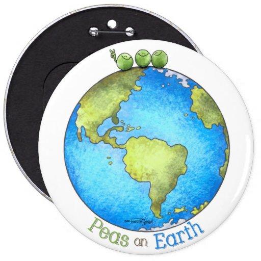 ¡Va el verde! - Paz en el botón de la tierra Pins