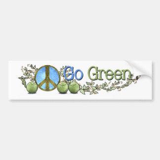 ¡Va el verde! - Paz en pegatina para el parachoque Etiqueta De Parachoque