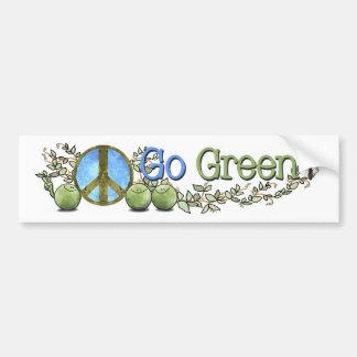 ¡Va el verde! - Paz en pegatina para el parachoque Pegatina De Parachoque