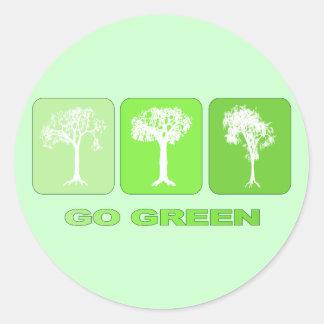 Va el verde pegatinas redondas