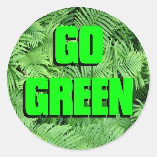 Va el verde etiqueta redonda