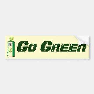 Va el verde pegatina de parachoque