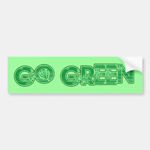 Va el verde pegatina para auto