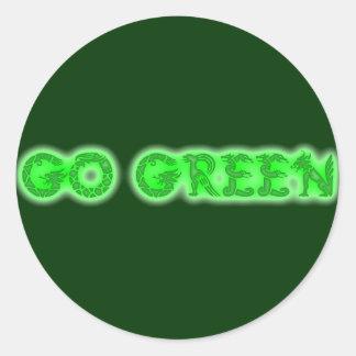 Va el verde pegatina redonda