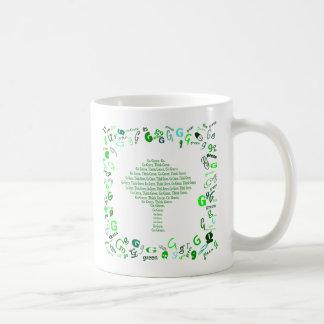 Va el verde. Piense el verde. redacte la taza de