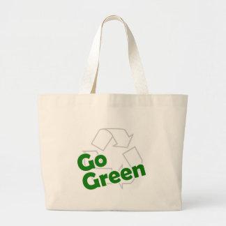 va el verde recicla bolsa de tela grande