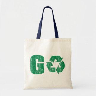 Va el verde recicla bolsa lienzo