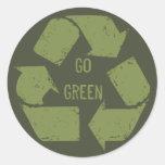 Va el verde recicla el logotipo etiquetas