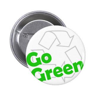 va el verde recicla pin redondo de 2 pulgadas