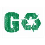 Va el verde recicla postal