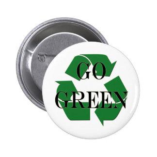 Va el verde recicla símbolo pin
