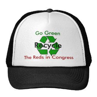Va el verde - recicle los rojos en congreso gorros bordados
