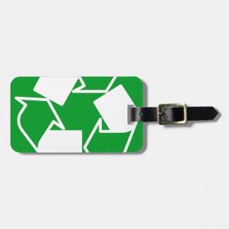 va el verde reduce recicla etiquetas de maletas