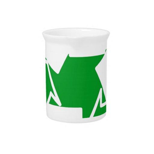 va el verde reduce recicla jarrones