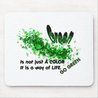 Va el verde tapetes de ratón