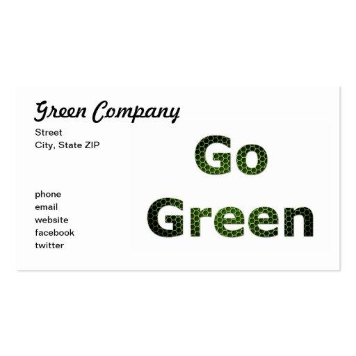 Va el verde tarjetas de visita