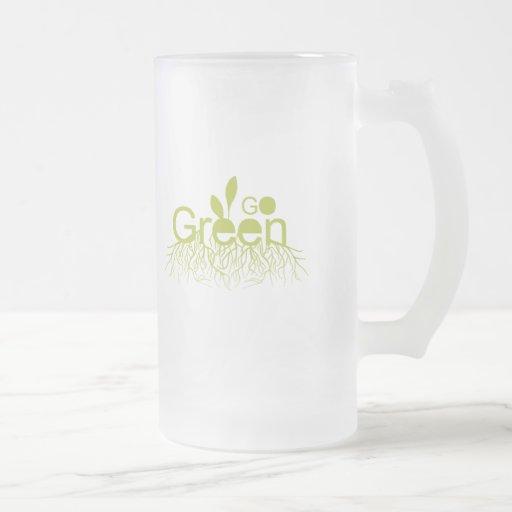 Va el verde taza cristal mate