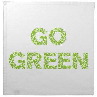 Va el verde, texto con las letras frescas de las h servilletas