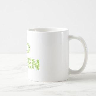 Va el verde, texto con las letras frescas de las h tazas de café