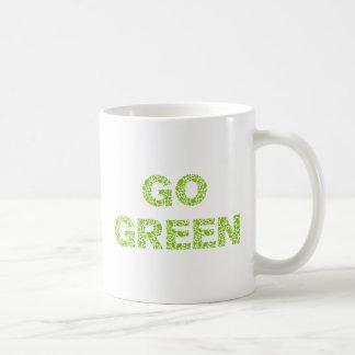 Va el verde, texto con las letras frescas de las h tazas