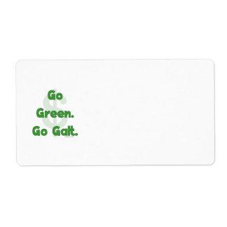 Va el verde va Galt Etiqueta De Envío