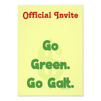 """Va el verde va Galt Invitación 5"""" X 7"""""""