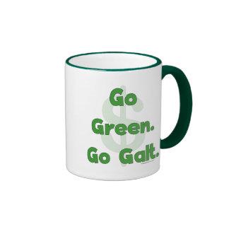 Va el verde va Galt Taza De Dos Colores
