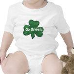 Va el verde va irlandés camiseta