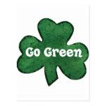 Va el verde va irlandés postal