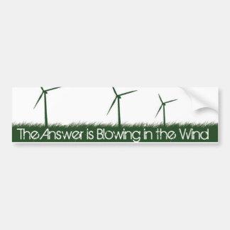 Va el verde, va limpio, va renovable pegatina para auto
