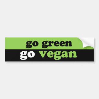 va el verde va vegano pegatina para auto