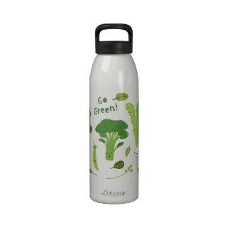 ¡Va el verde! Veggies sanos Botallas De Agua